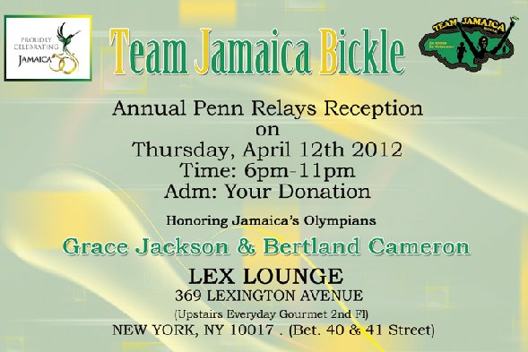 Team Jamaica Bickle Penn Relays Reception
