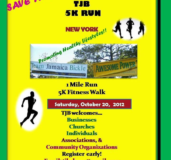 TJB 5K RUN Takes Place On Saturday, October 20, 2012