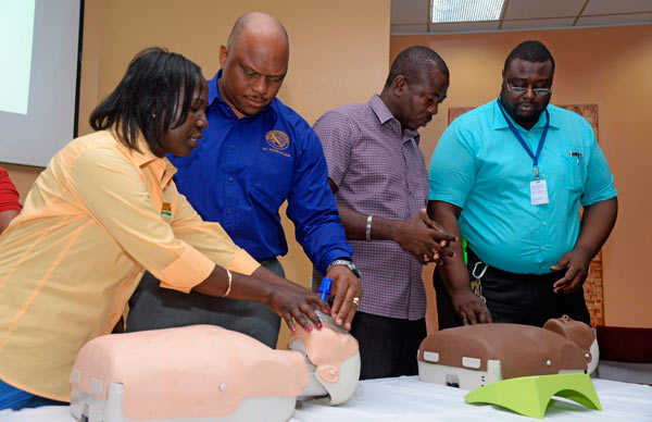 Team Jamaica Bickle donates more defibrillators