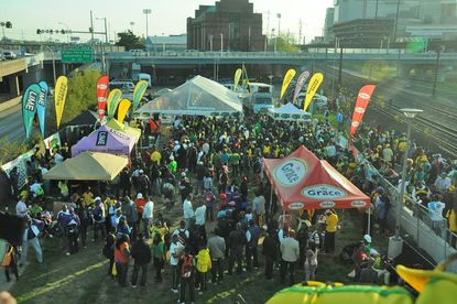 Team Jamaica Bickle marks 25 years of caring for visiting high school athletes at the big Penn Relays track-and-field meet