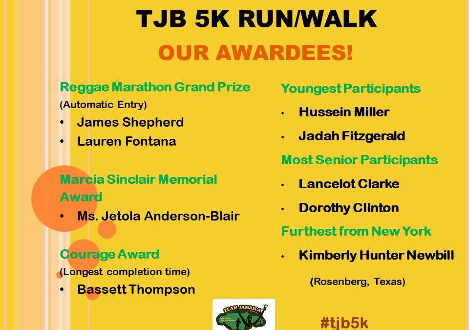 OUR 5K AWARDEES